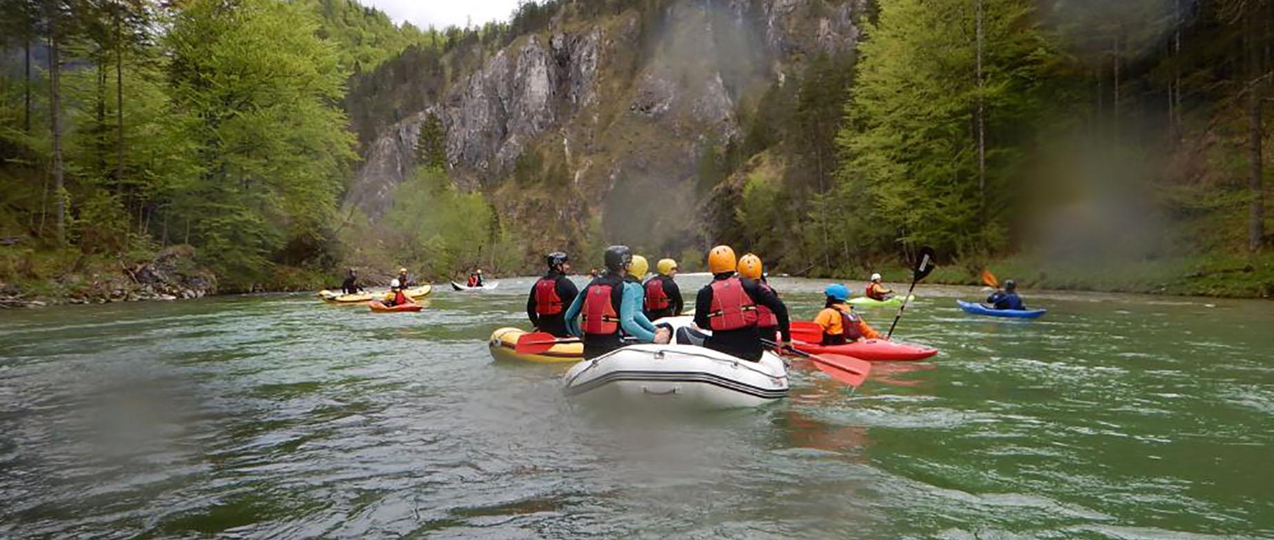 Rafting túra Ausztriában a Salza folyón