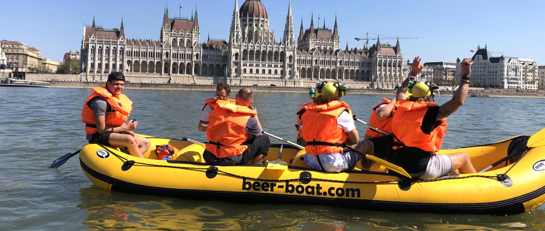 6 fős Beer-Boat  budapesti városnézés ajándékutalvány