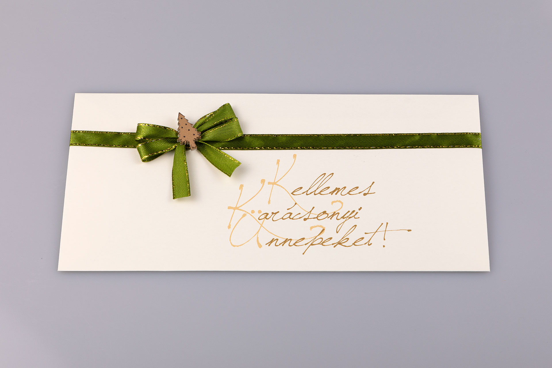 """Francia boríték """"Kellemes Karácsonyi Ünnepeket!"""" felirattal"""