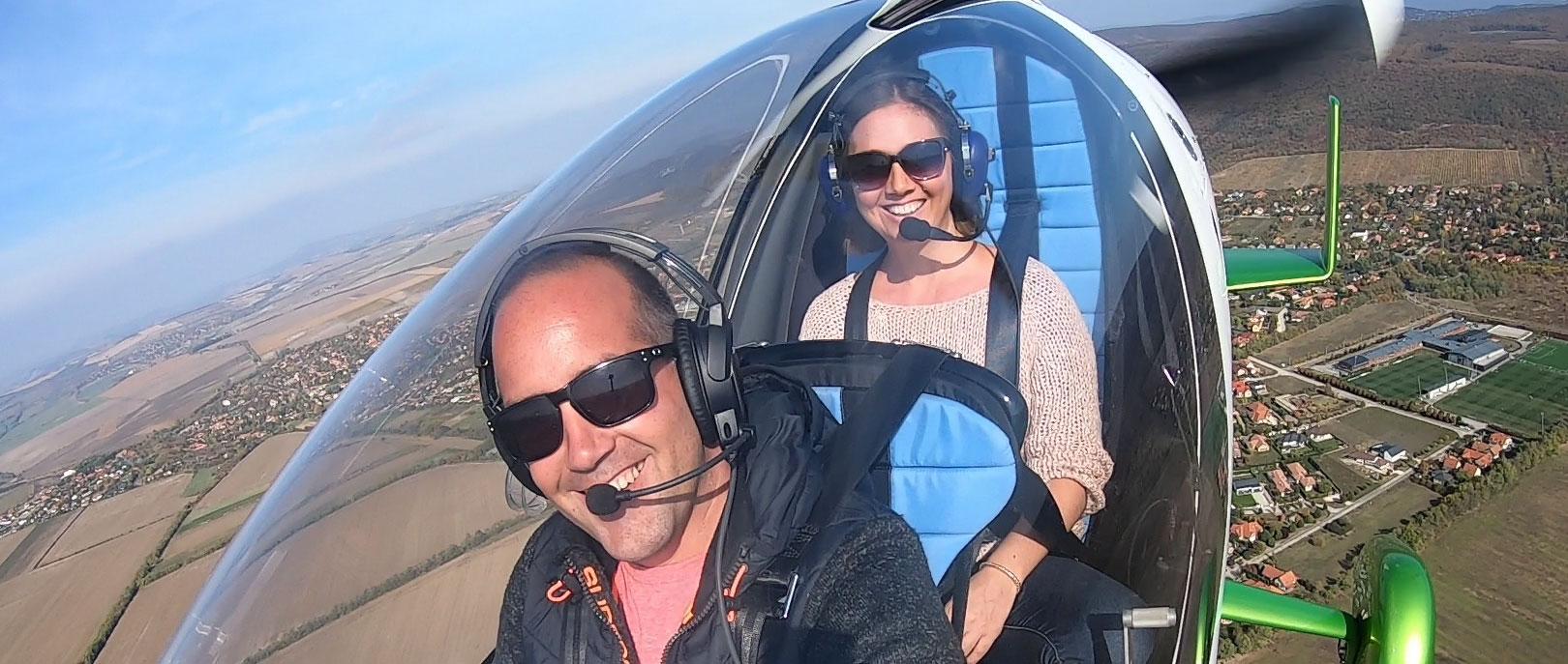Minihelikopteres repülés Budapesten és a Dunakanyarban