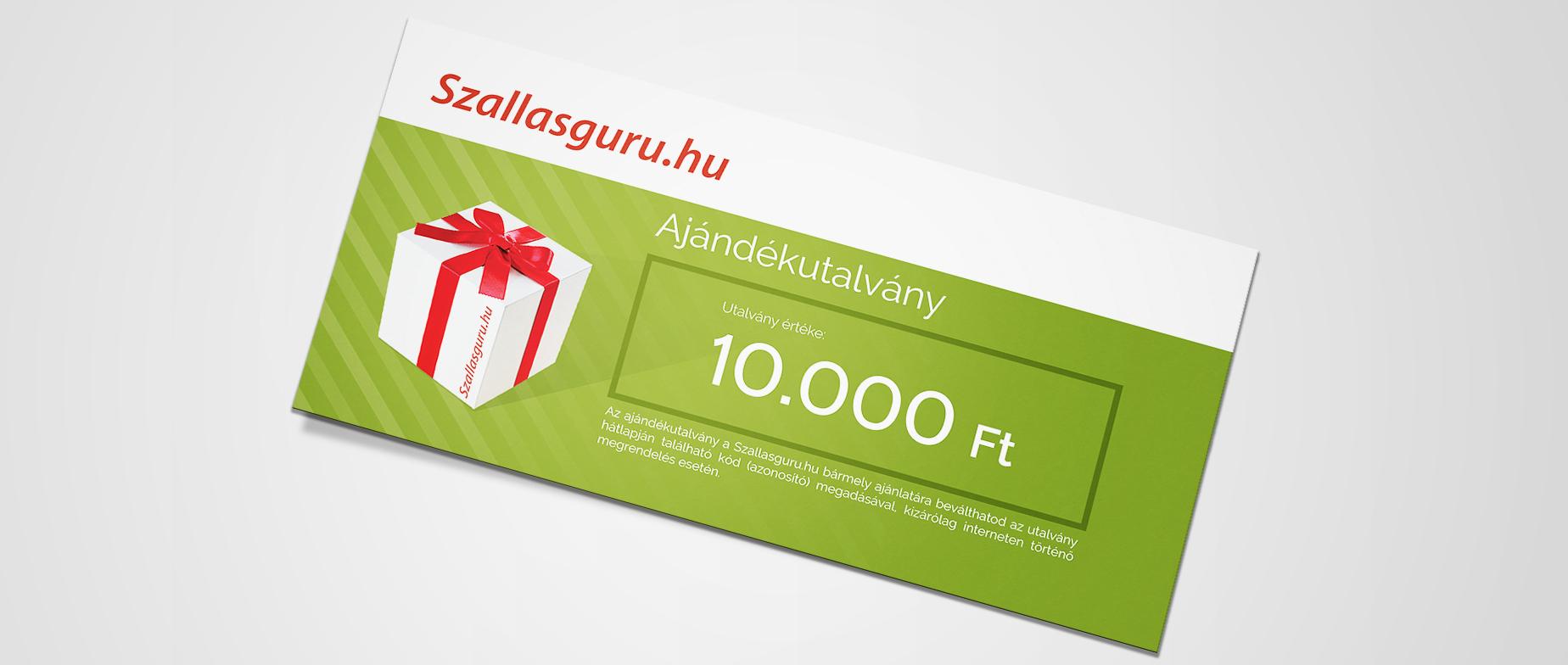 Szallasguru.hu ajándékkártya